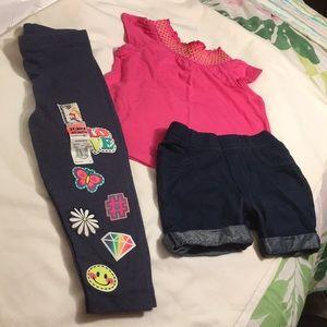 Garanimals 2T shorts , top , leggings nwt